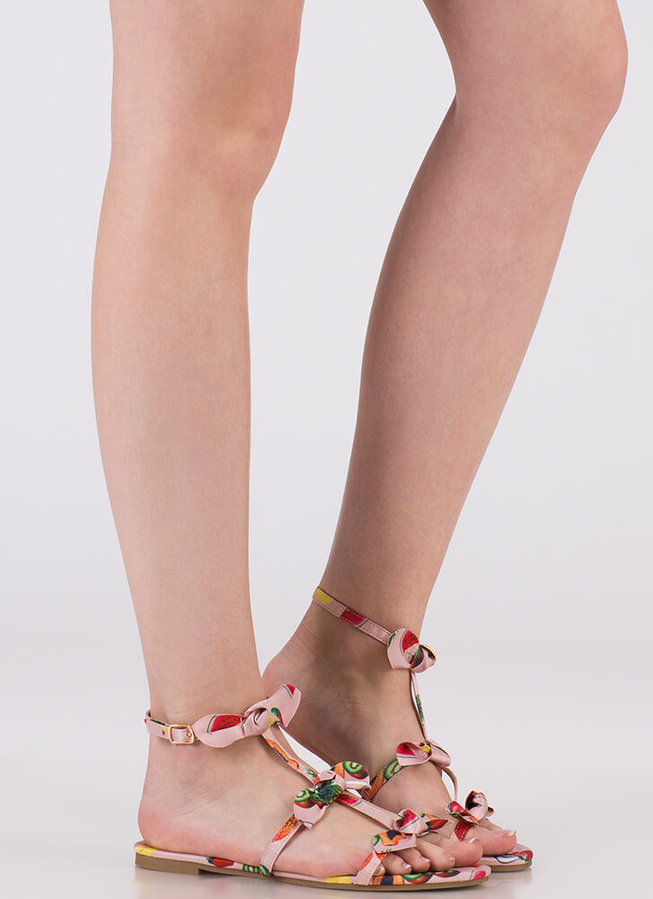 Bows Before Bros Fruit Print Sandals MULTI