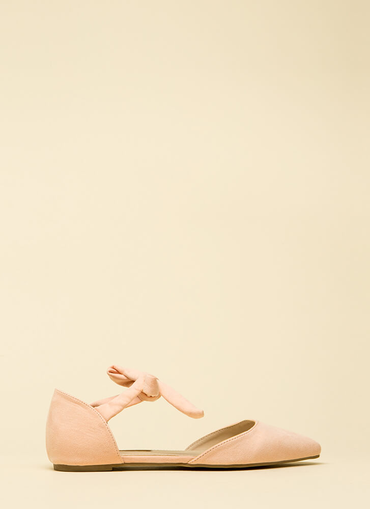 Too Cute For School Pointy Flats BLUSH