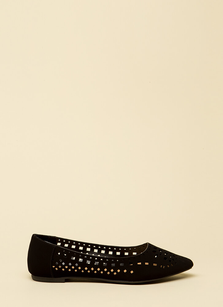 The Shapes Of You Laser-Cut Flats BLACK