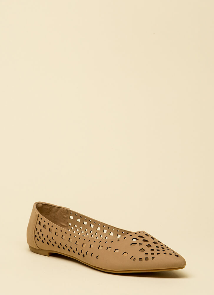 The Shapes Of You Laser-Cut Flats NATURAL