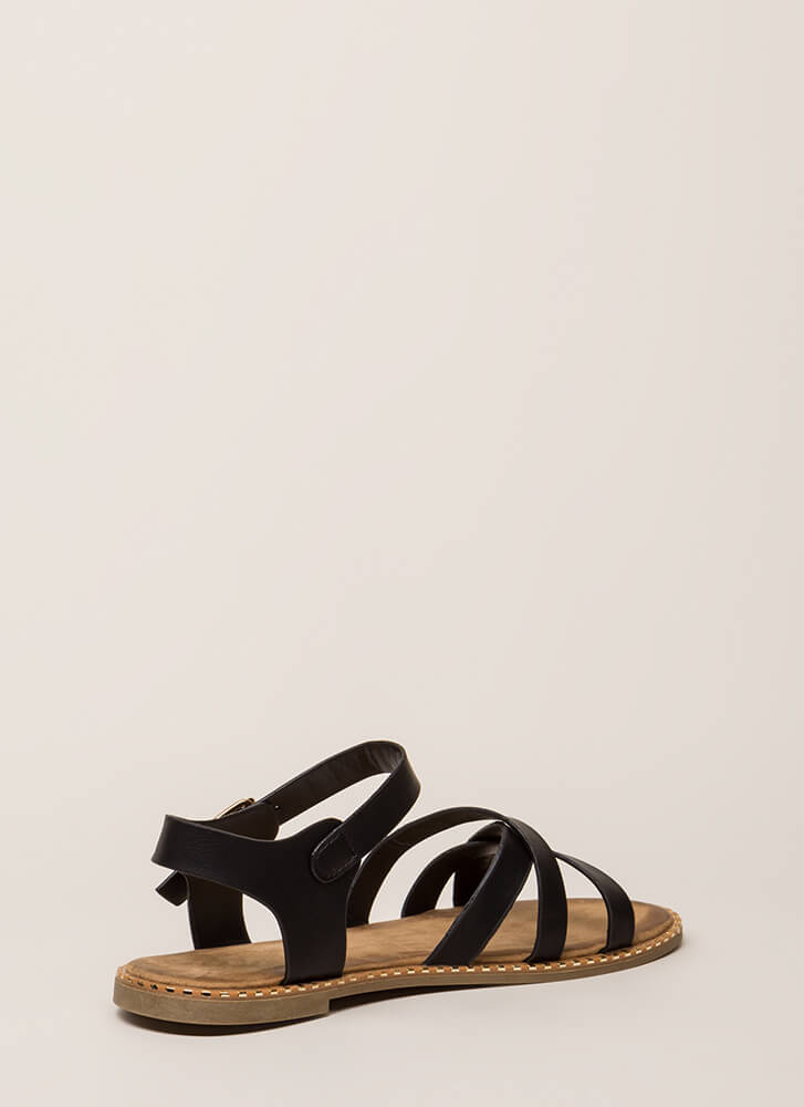 Always A Pleasure Strappy Sandals BLACK (You Saved $12)
