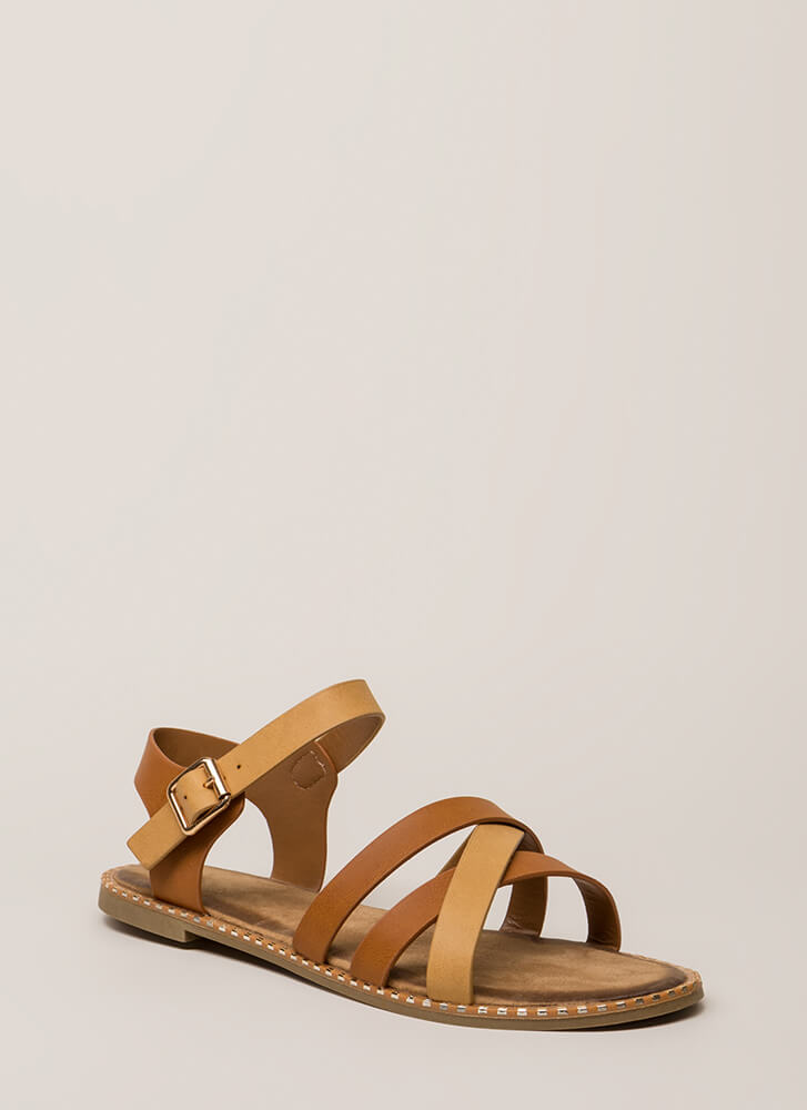 Always A Pleasure Strappy Sandals TAN