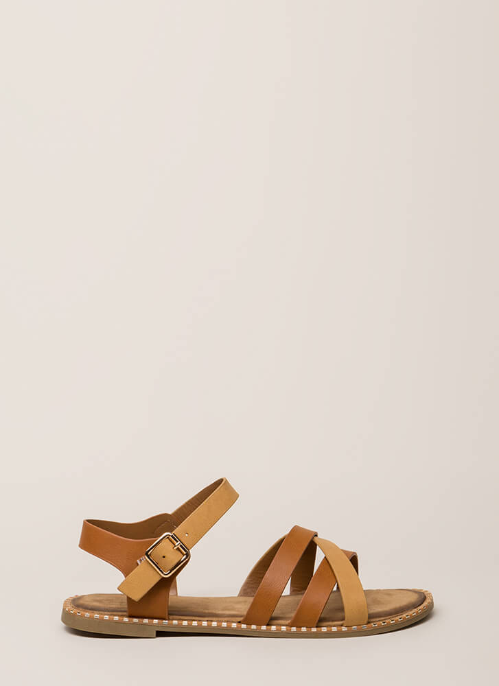 Always A Pleasure Strappy Sandals TAN (Final Sale)