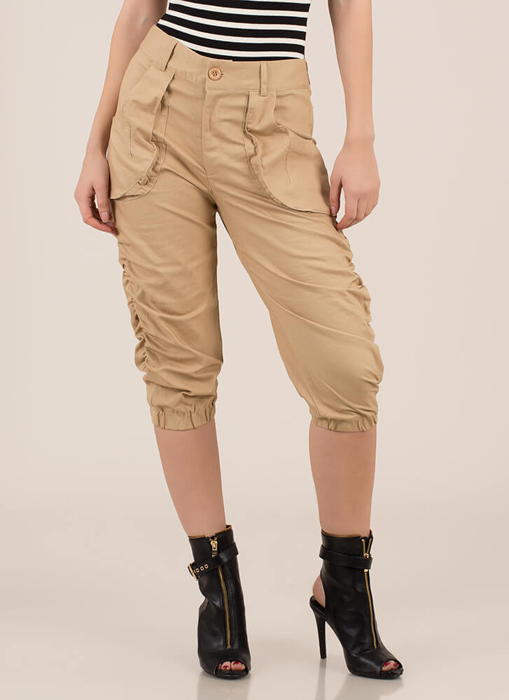 Adventure Calls Cropped Safari Pants KHAKI
