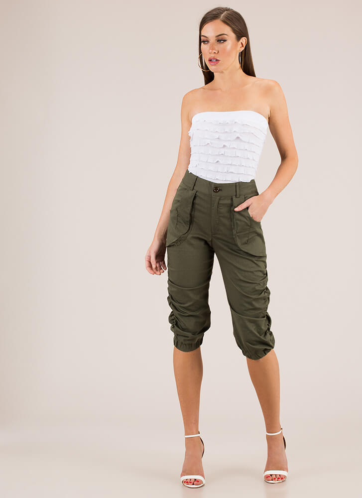 Adventure Calls Cropped Safari Pants OLIVE