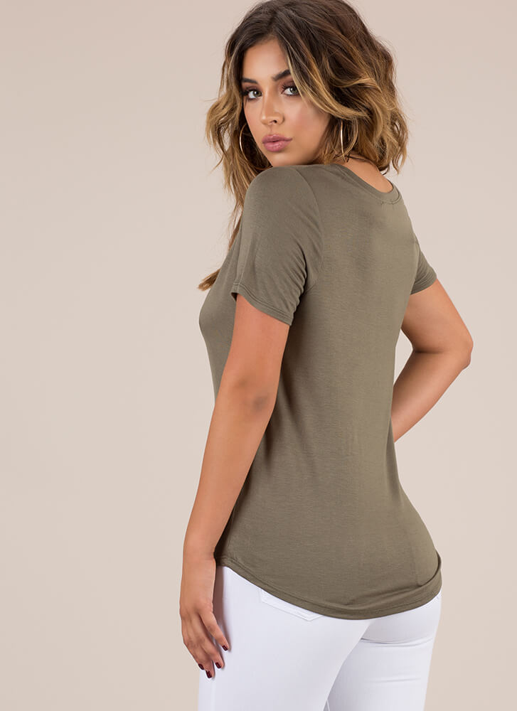I'll Take One In Every Color Deep-V Top ARMY