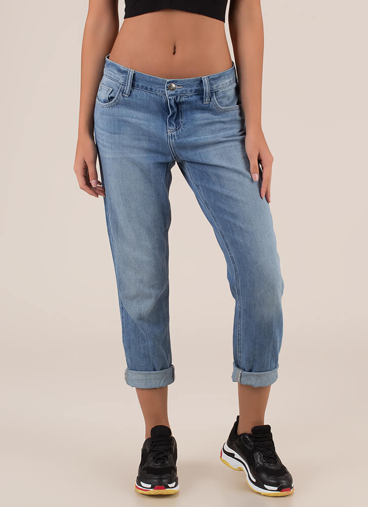 Who Needs An Actual Boyfriend Jeans BLUE