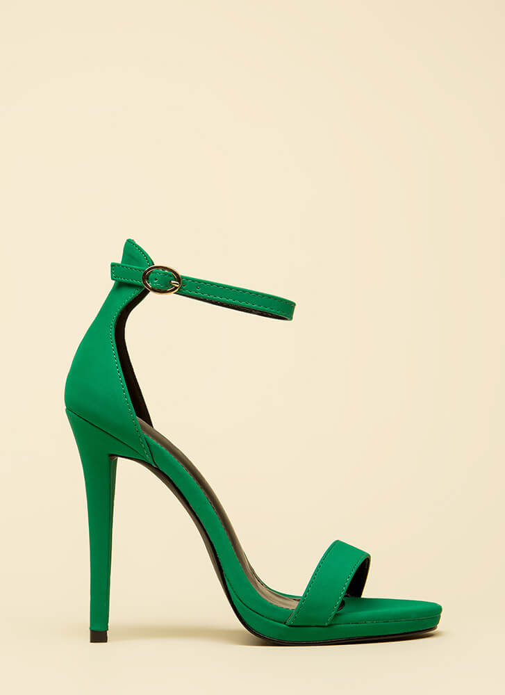 Stand And Deliver Ankle Strap Heels JADE