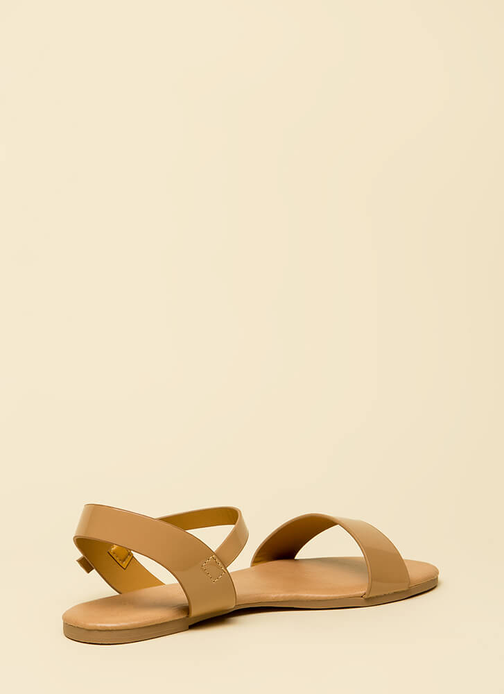 Weekend Bound Ankle Strap Sandals NUDE