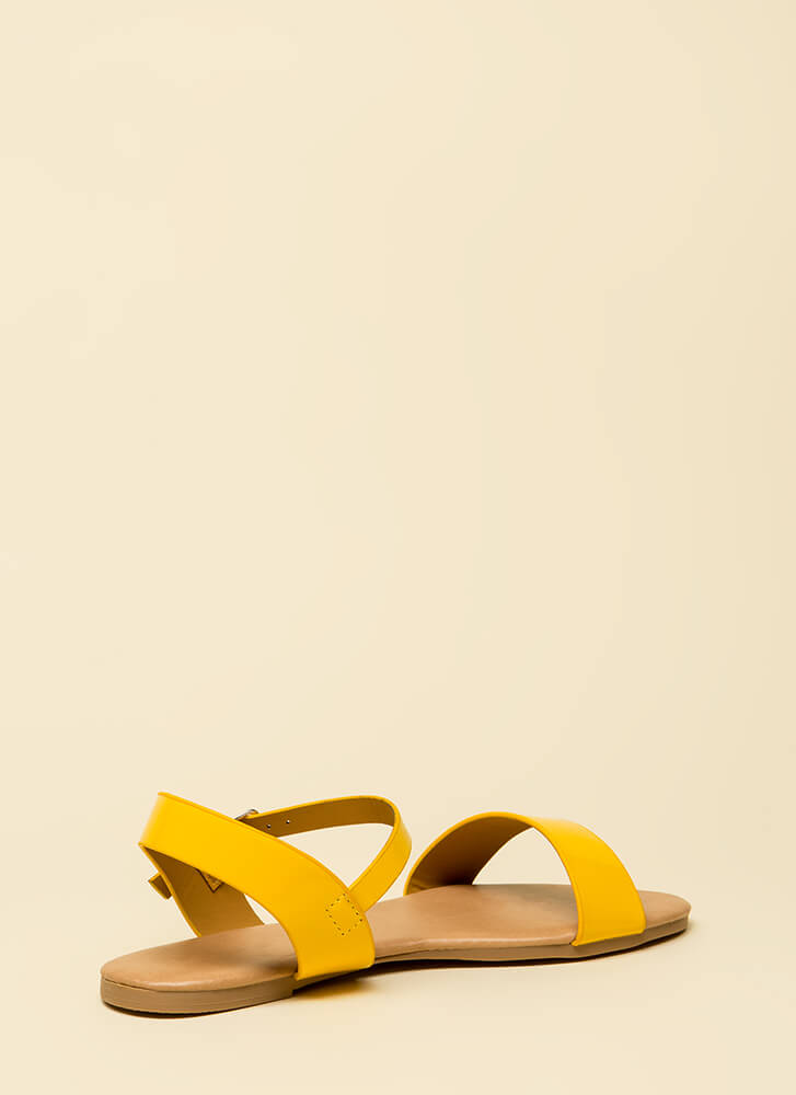 Weekend Bound Ankle Strap Sandals YELLOW