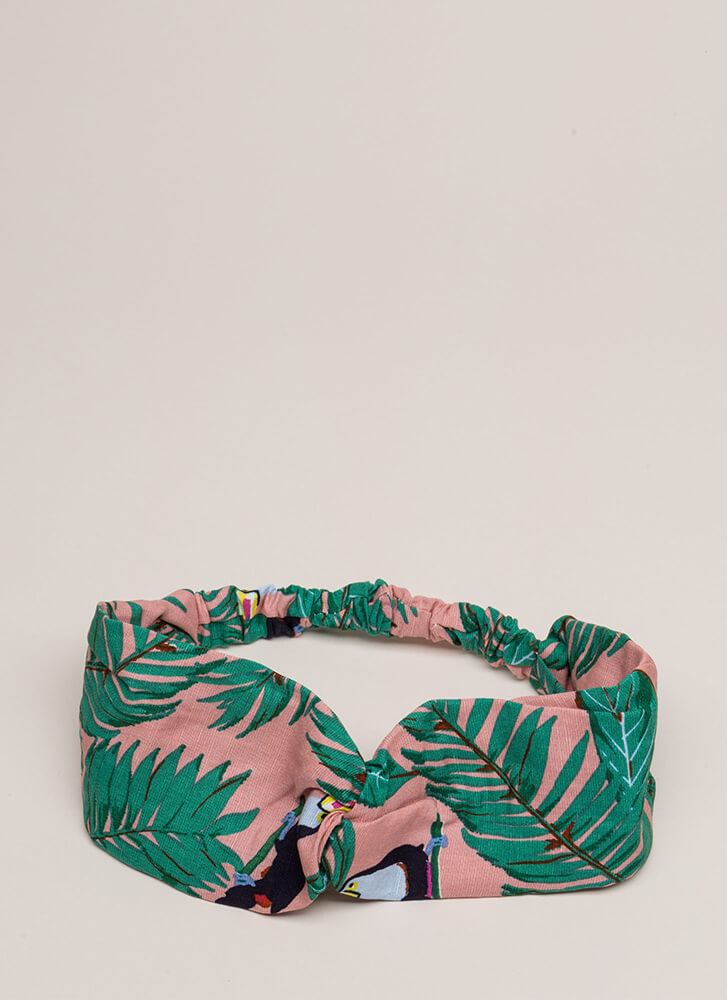 Toucan Play This Game Tropical Headband PINK
