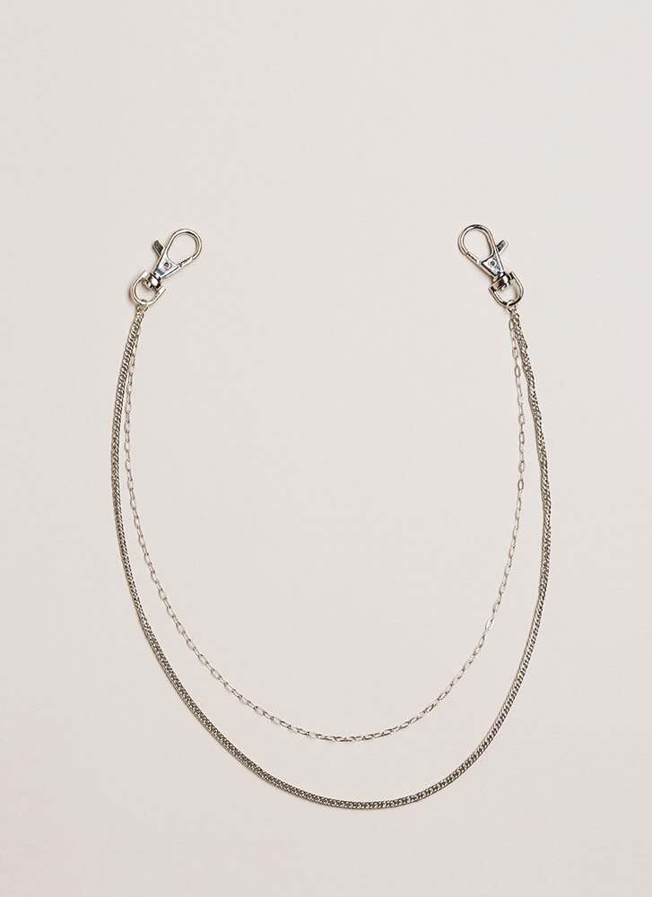 Cool Kids Draped Chain Accessory SILVER