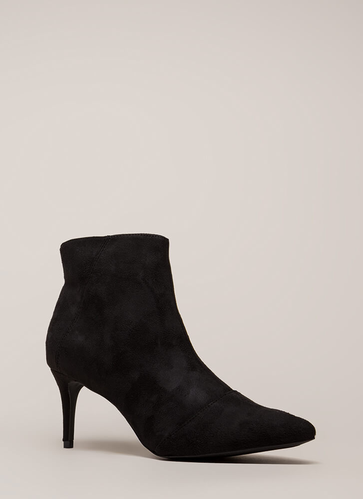 Short And To The Point Booties BLACK