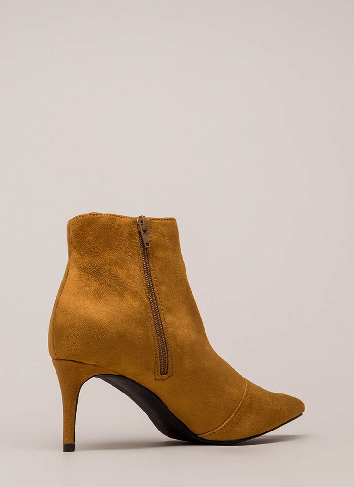 Short And To The Point Booties MOCHA