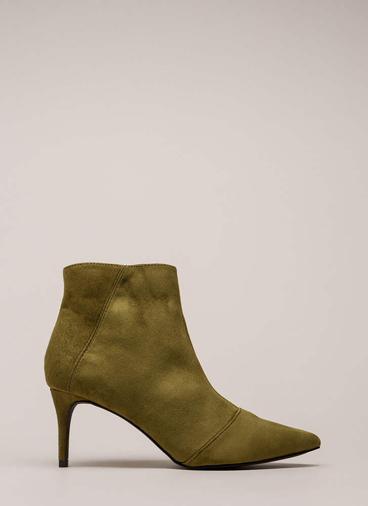 Short And To The Point Booties OLIVE