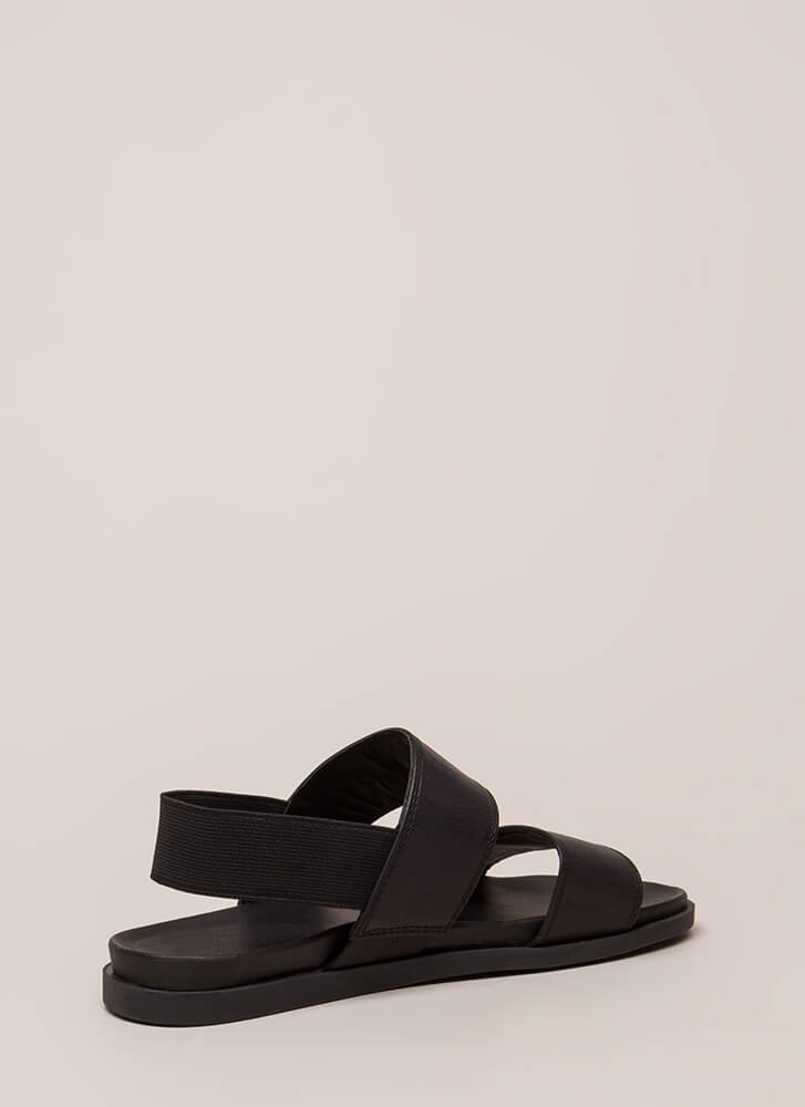 Band Mate Strappy Slingback Sandals BLACK