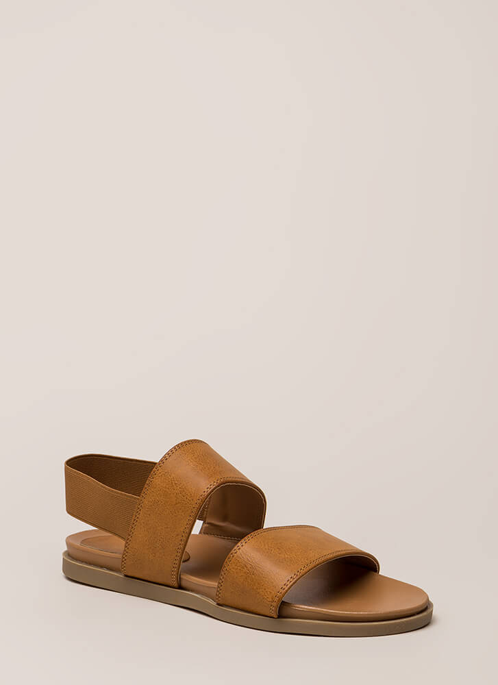 Band Mate Strappy Slingback Sandals TAN