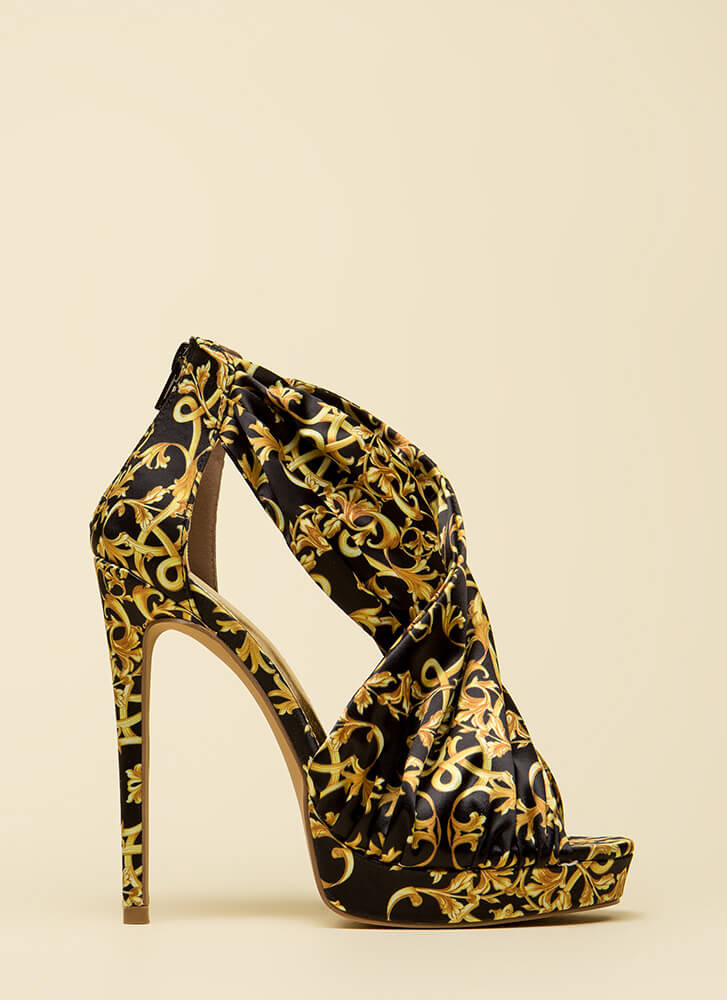 If It Ain't Baroque Wrapped Platforms GOLD