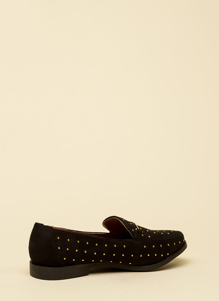 You've Got Style Studded Loafers BLACK