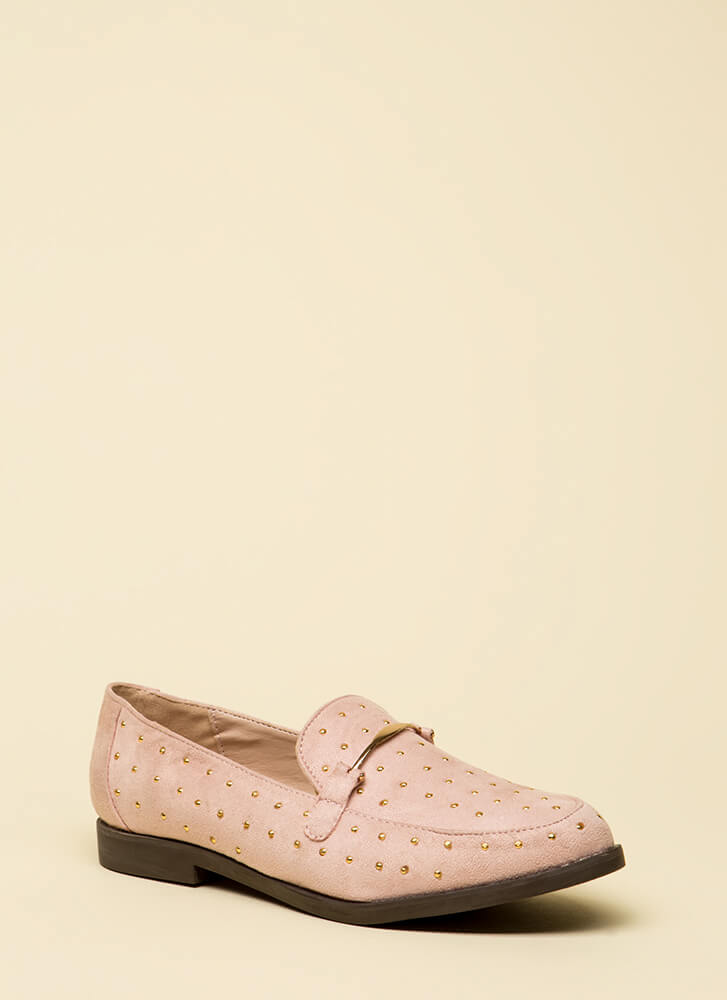 You've Got Style Studded Loafers BLUSH