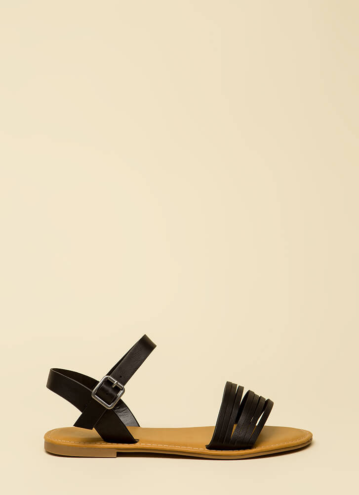 Slits For The Best Strappy Sandals BLACK