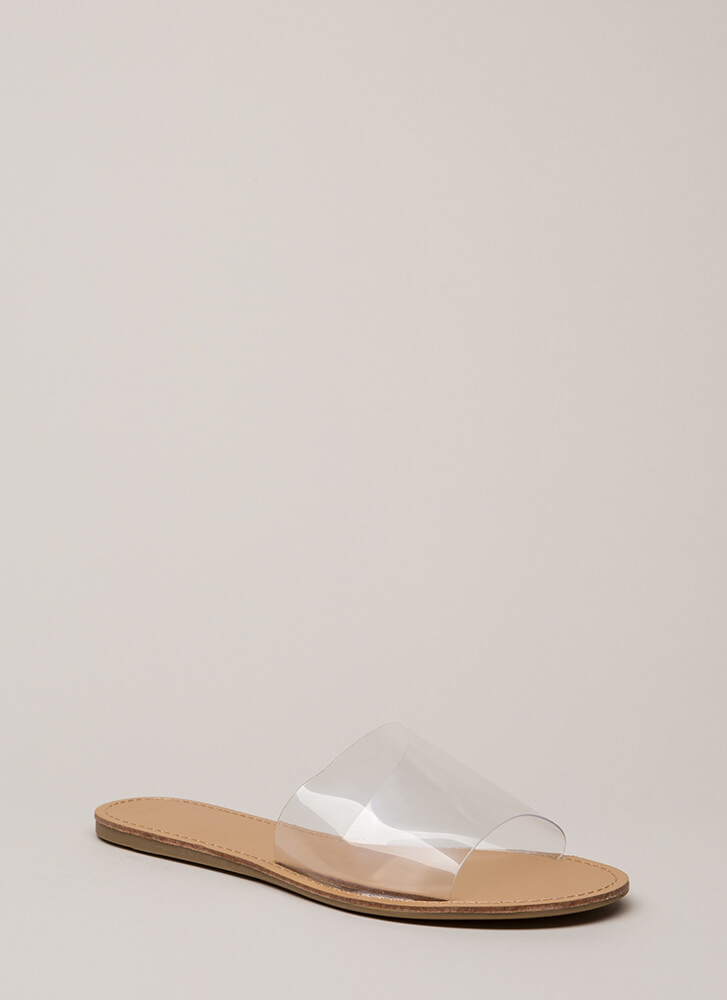 Slip And Slide Clear PVC Sandals CLEAR