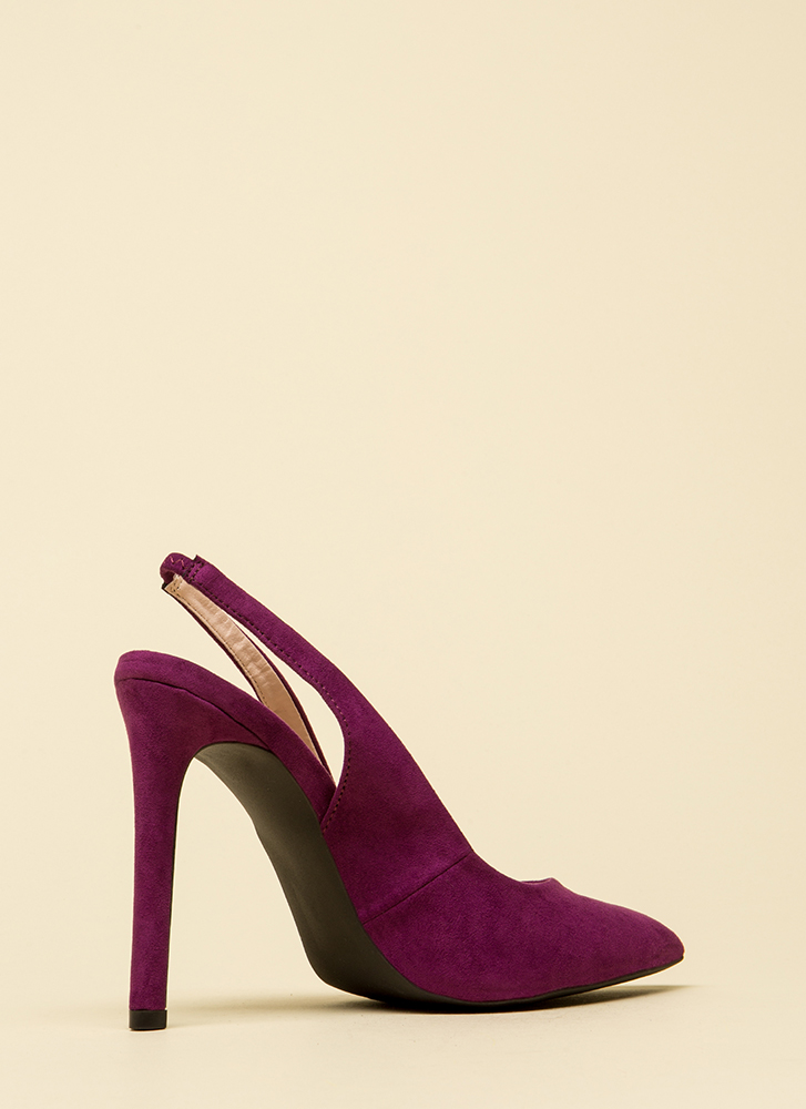 Step Right In Pointy Slingback Heels VIOLET
