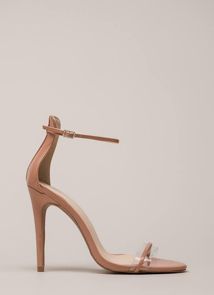 b264a0b129cf Clearly Gorgeous Skinny Strap Heels BLUSH Clearly Gorgeous Skinny Strap  Heels BLUSH ...