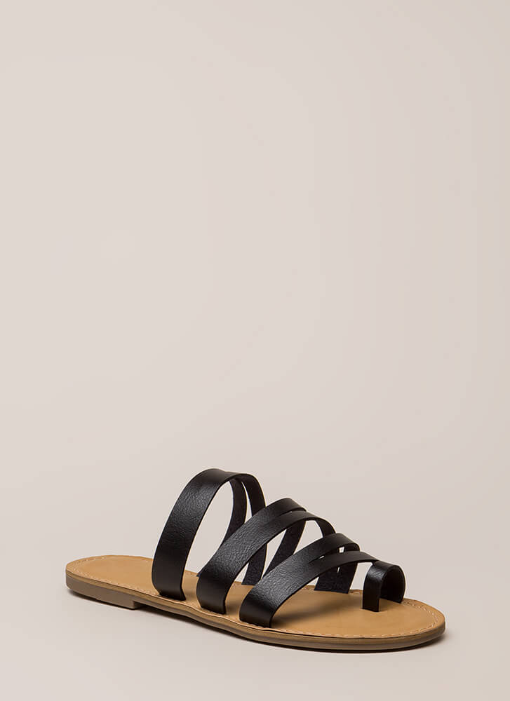 Slits A Good Thing Strappy Sandals BLACK