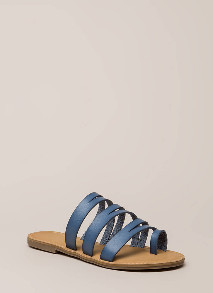 Slits A Good Thing Strappy Sandals BLUE