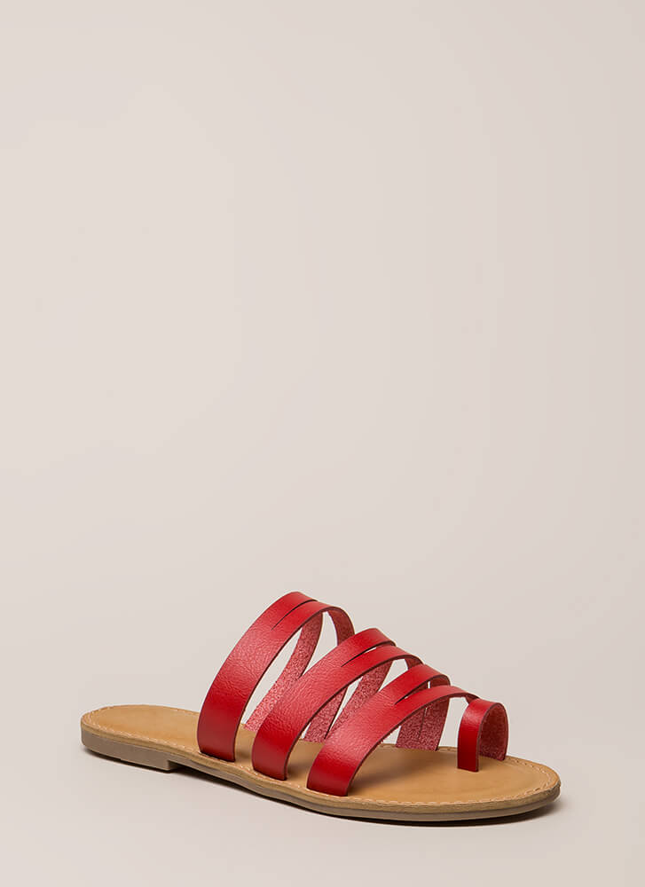 Slits A Good Thing Strappy Sandals RED