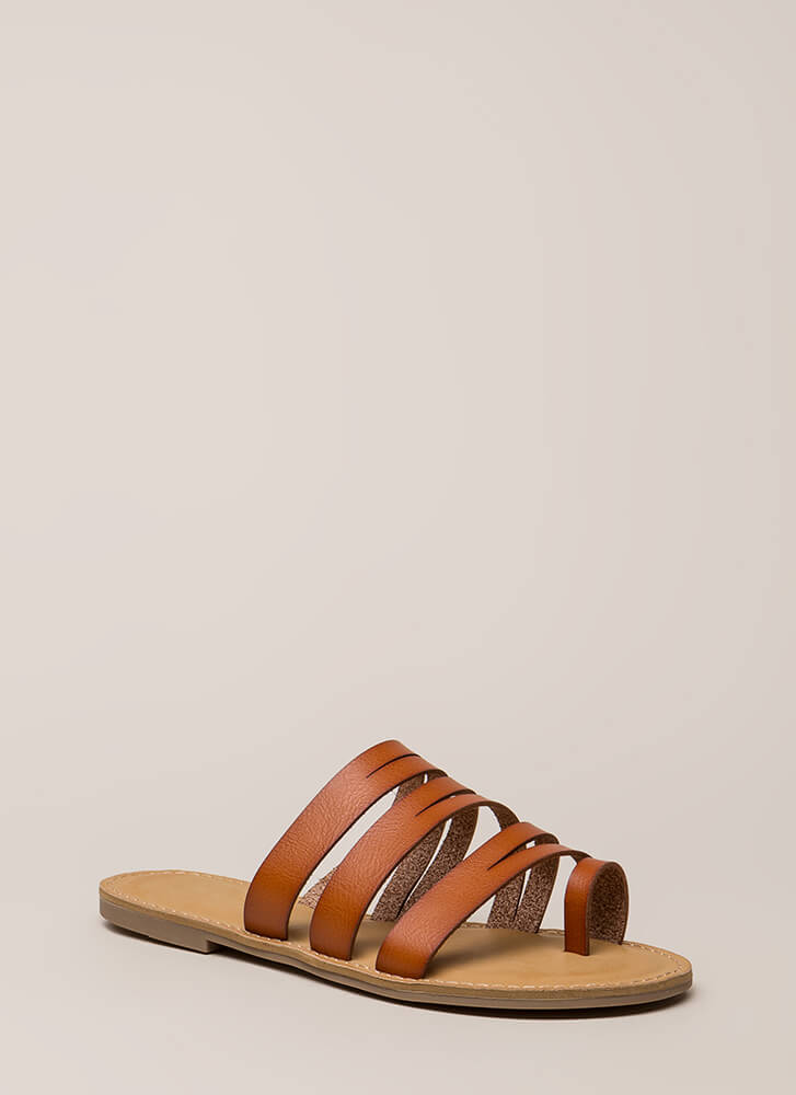 Slits A Good Thing Strappy Sandals TAN