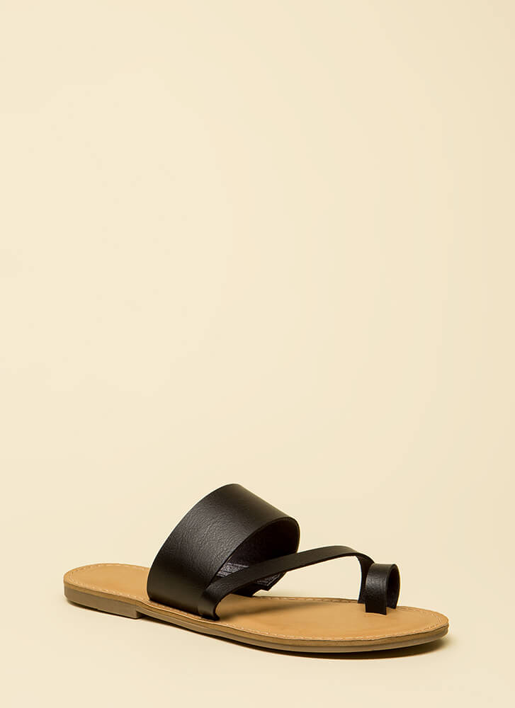 Good Connection Strappy Sandals BLACK