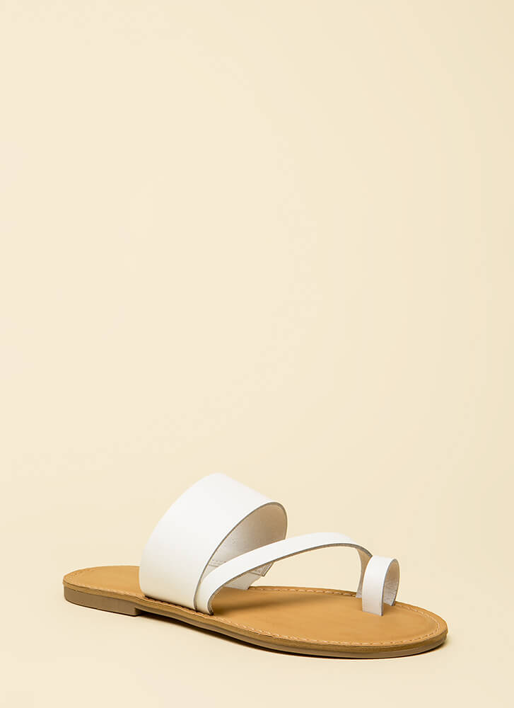 Good Connection Strappy Sandals WHITE