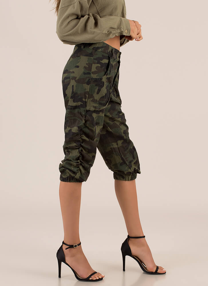 Call For Camo Cropped Safari Pants CAMO