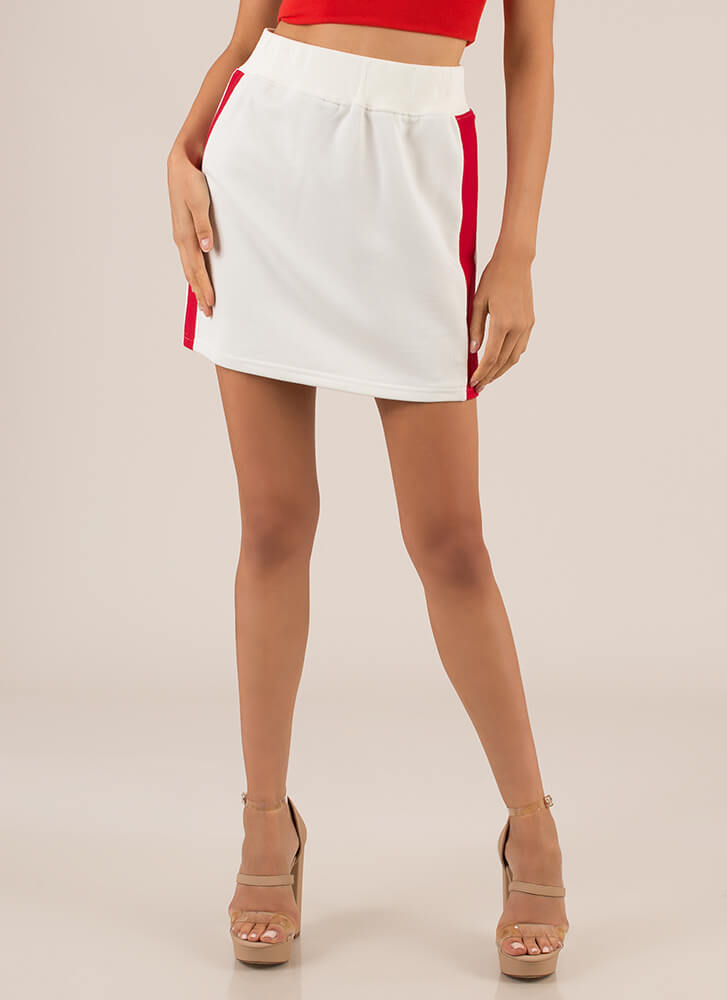 Flight School Striped Miniskirt IVORY (Final Sale)