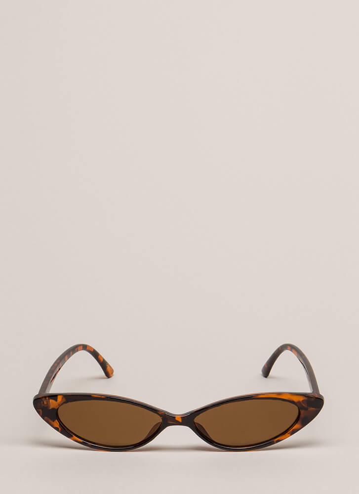 Start Small Slim Cat-Eye Sunglasses BROWN