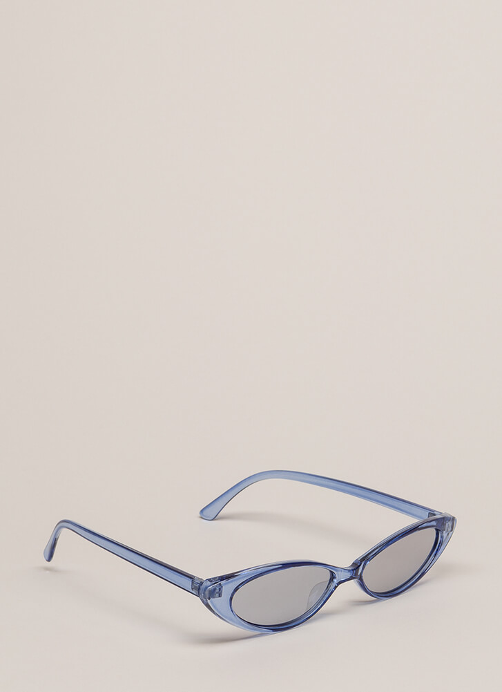 My Reflection Slim Cat-Eye Sunglasses BLUE