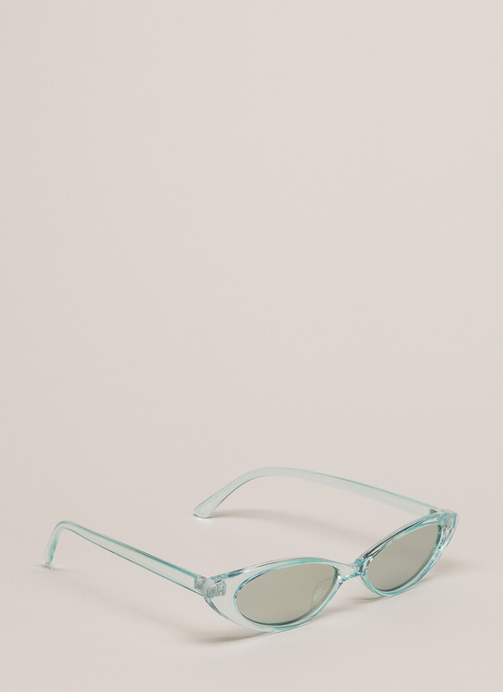My Reflection Slim Cat-Eye Sunglasses MINT
