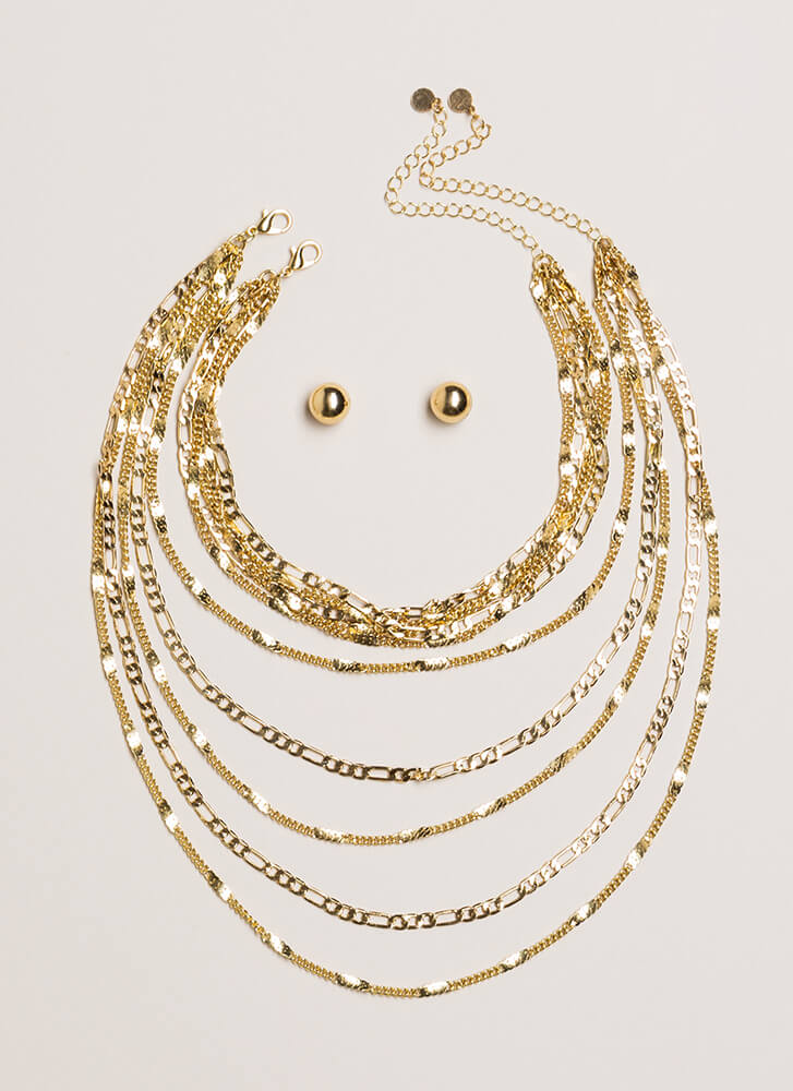 Chains For Days Layered Necklace Set GOLD