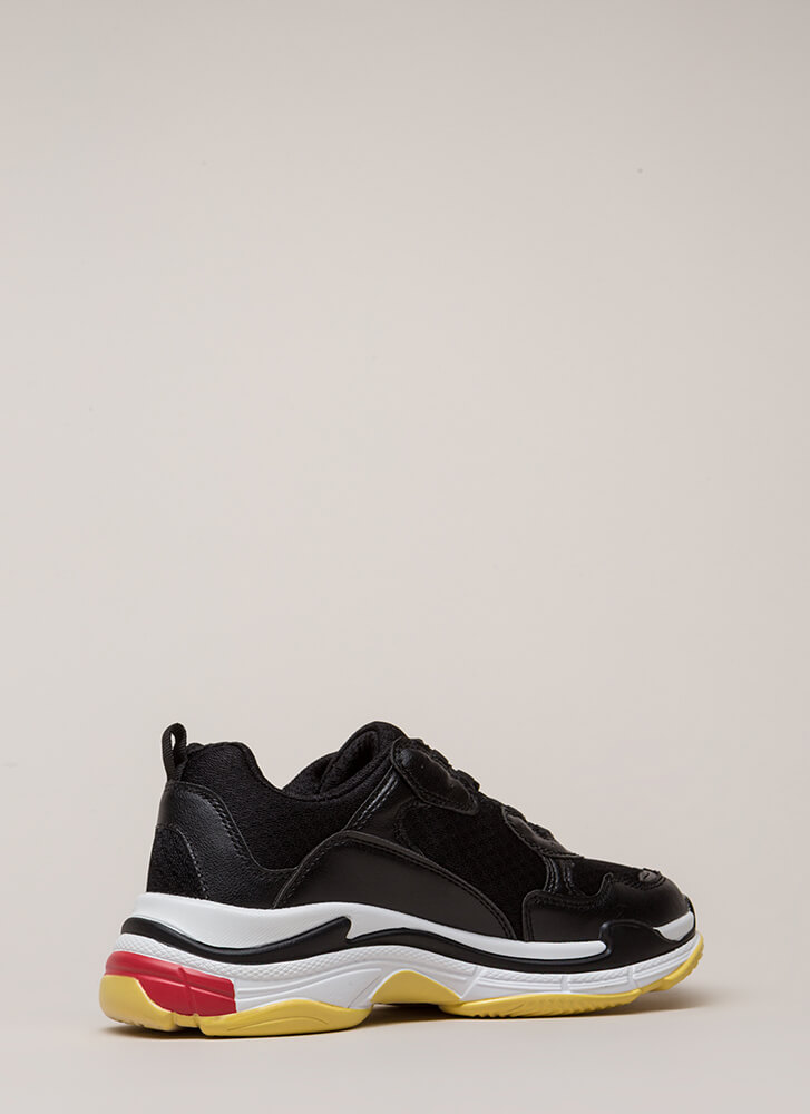 Athletic Ability Platform Sneakers BLACK