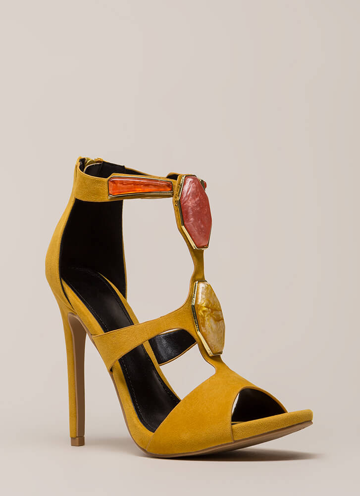 Hunt For Treasure Cut-Out Heels YELLOW