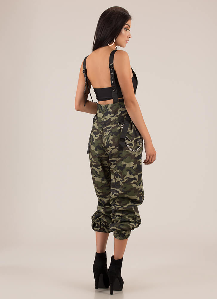 Hot Hardware Camo Jogger Overalls OLIVE