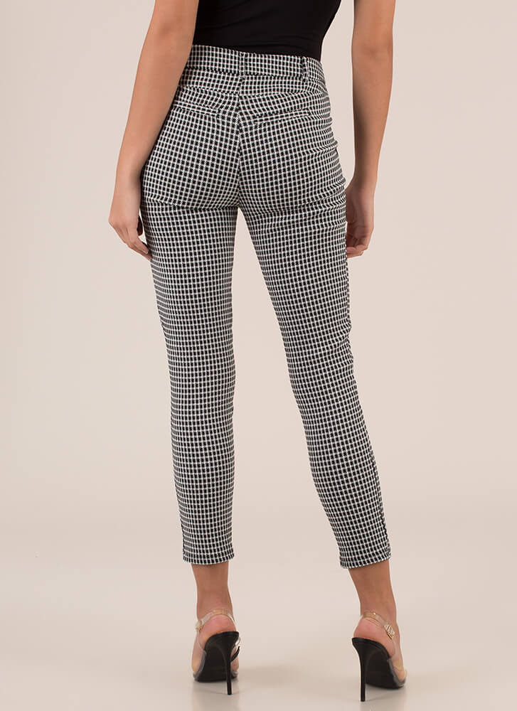 Everything's Going Grid Cigar Pants BLACK