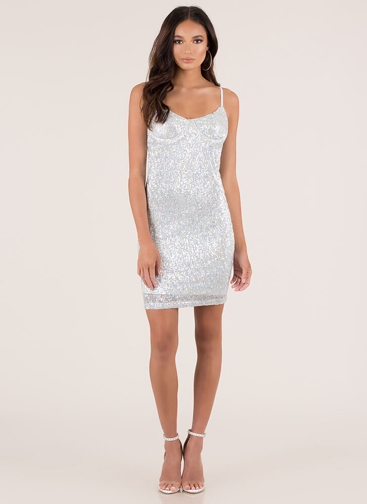 Ready To Party Sequined Minidress SILVER