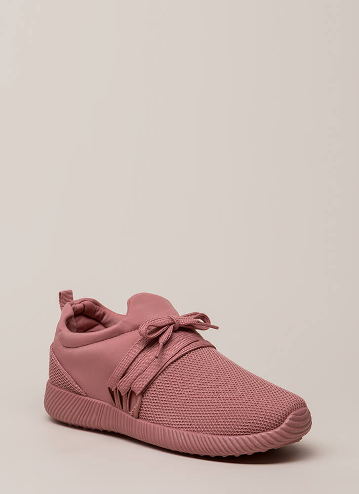 Good Run Netted Lycra Platform Sneakers ASHROSE