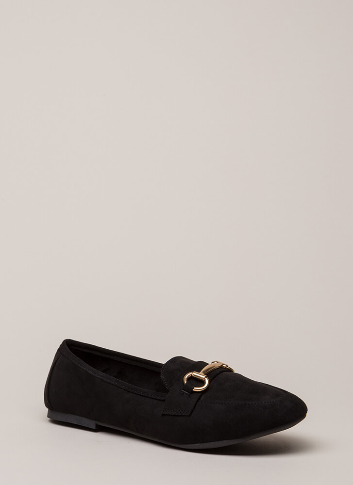 You Hit The Jackpot Loafer Flats BLACK