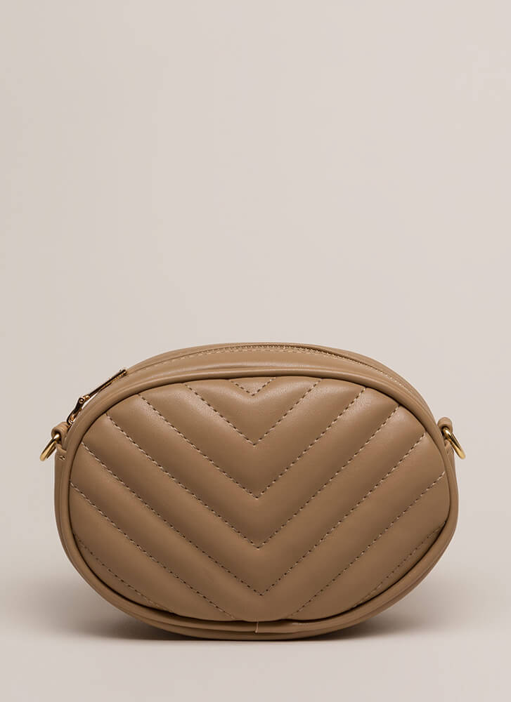 New Convert Quilted Fanny Pack Purse LTTAUPE