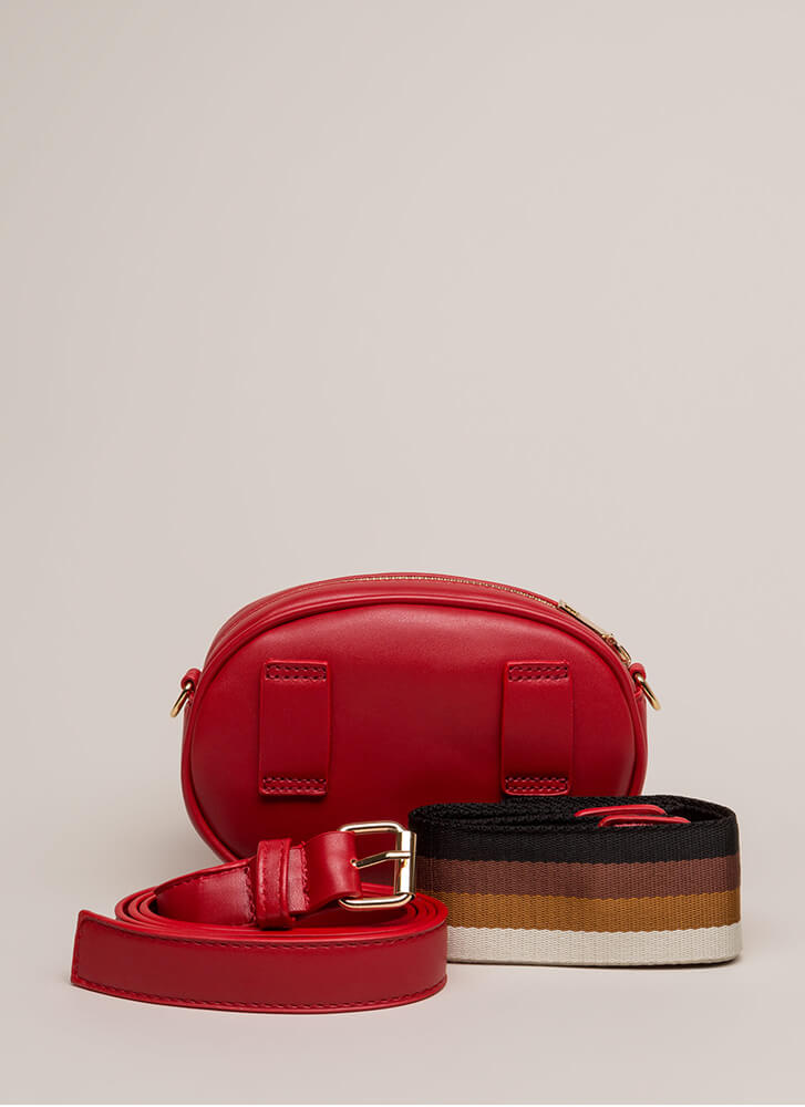 New Convert Quilted Fanny Pack Purse RED