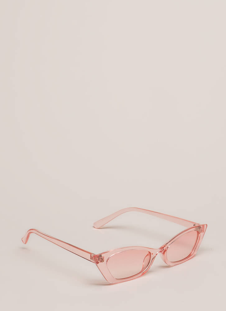 Watch Your Tonal Slim Sunglasses PINK